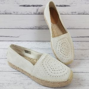 NEW Ugg Heidi Perforated Moccasin Espadrille
